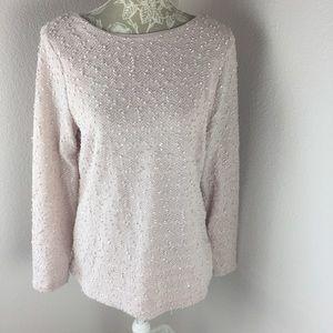 Jennifer Lopez Sweater Pink Blush Silver XL